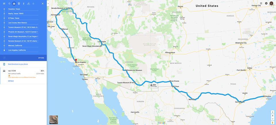 Houston to LA through Reno